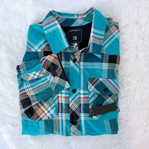 NWT O'Neill Button Down Plaid Shirt